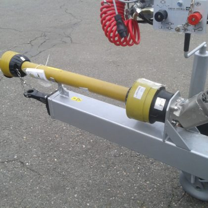 Hydraulic system drive through Cardan shaft