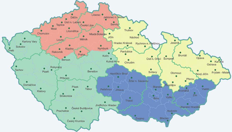 Obchodní rozdělení ČR